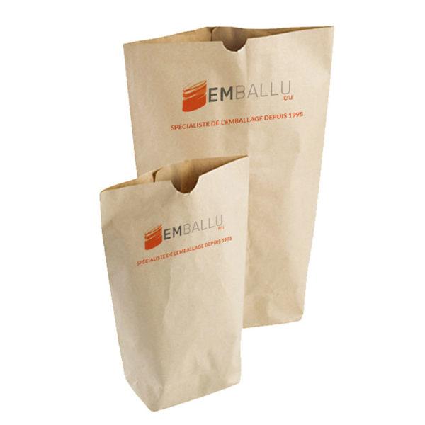 Sacs écornés kraft personnalisé par un fournisseur d'emballage